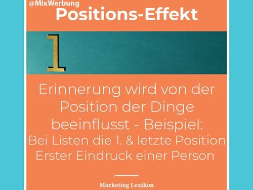 Positionseffekt in der Werbung und im Marketing