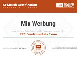 PPC online Werbeagentur Zertifikat