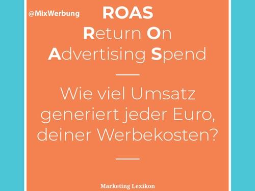ROAS Definition - Marketing Lexikon
